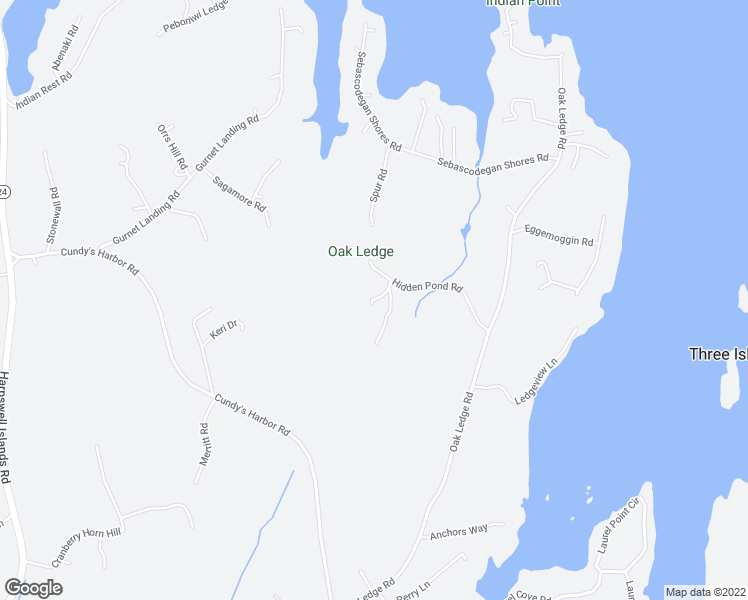 map of restaurants, bars, coffee shops, grocery stores, and more near 3 Woodford Trail in Harpswell