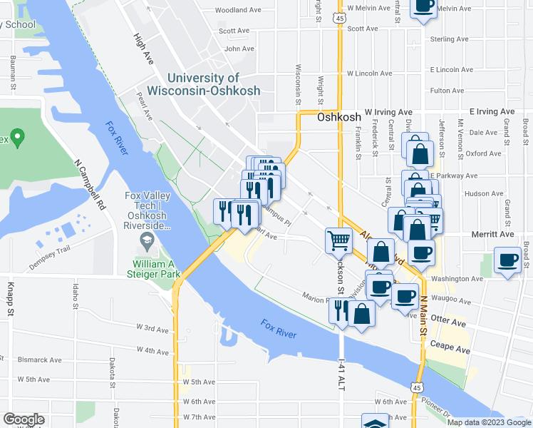Oshkosh Campus Map.539 Campus Place Oshkosh Wi Walk Score