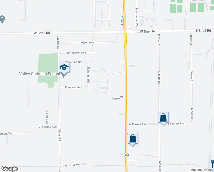 map of restaurants, bars, coffee shops, grocery stores, and more near 3401 Logan Drive in Oshkosh
