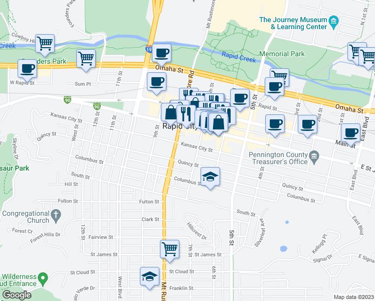 715 Kansas City Street Rapid Sd Walk Score: Rapid City Street Map At Slyspyder.com