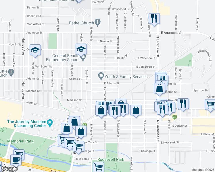 203 East Adams Street Rapid City Sd Walk Score: Rapid City Street Map At Slyspyder.com