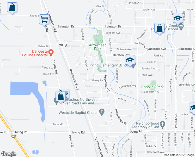 map of restaurants, bars, coffee shops, grocery stores, and more near 1265 Sonoma Drive in Eugene