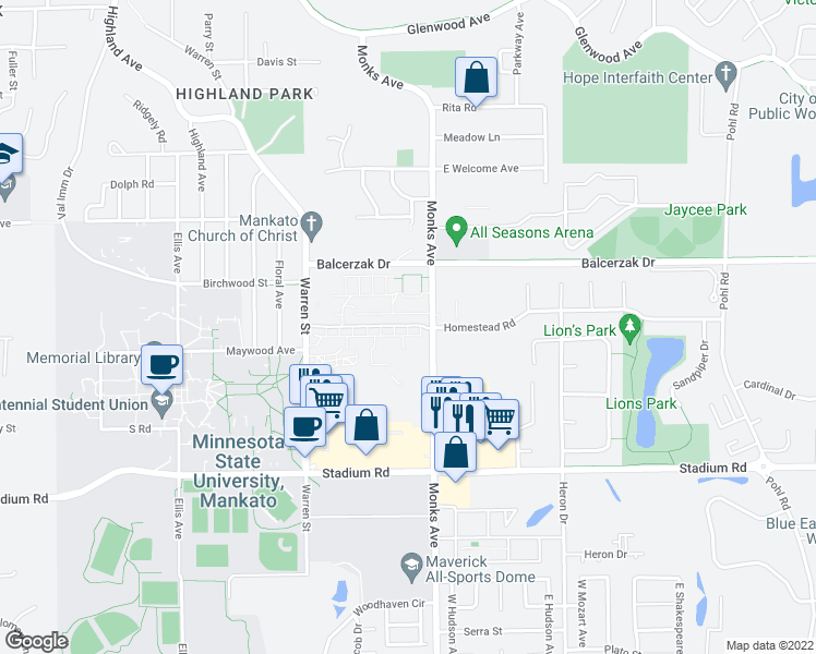 140 Campus View Mankato Mn Walk Score