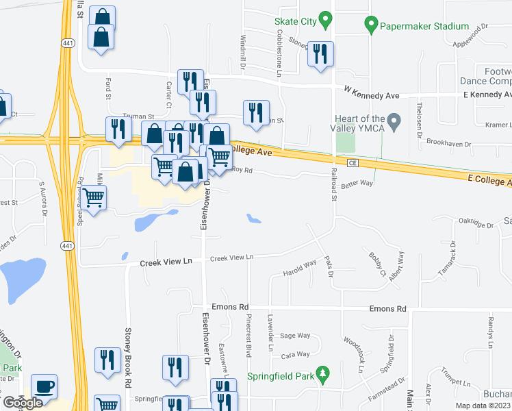 Map Of Restaurants Bars Coffee S Grocery Ore Near W3091