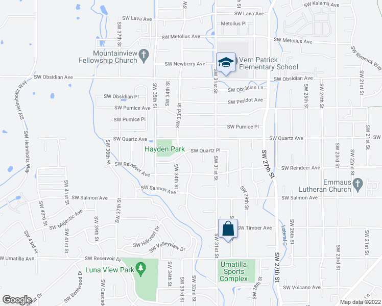 map of restaurants, bars, coffee shops, grocery stores, and more near 3256 Southwest Quartz Place in Redmond