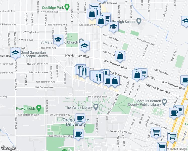 Corvalis Oregon Map.207 Northwest 21st Street Corvallis Or Walk Score