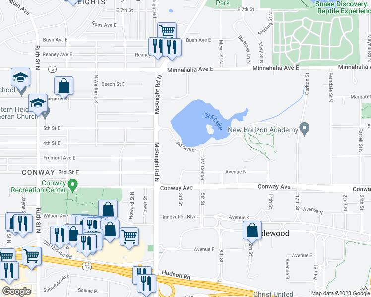 3M Center Map 3M Center, Maplewood MN   Walk Score