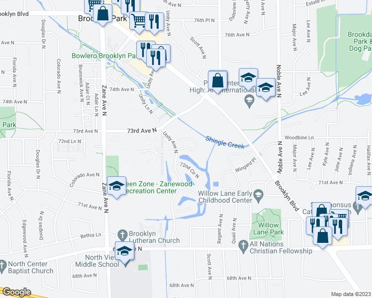 Map Of Restaurants Bars Coffee S Grocery Ore Near 5408