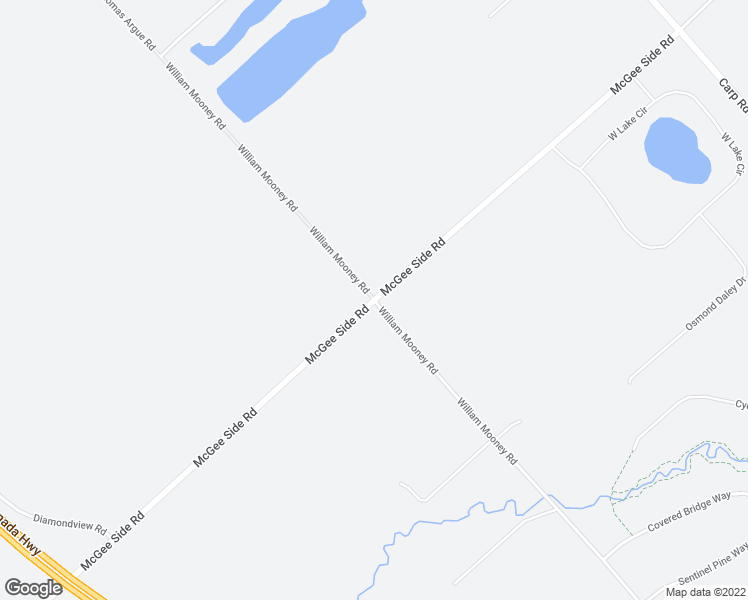 map of restaurants, bars, coffee shops, grocery stores, and more near McGee Side Road in Ottawa
