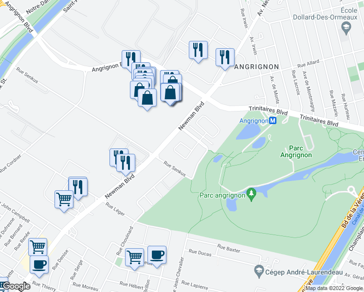 map of restaurants, bars, coffee shops, grocery stores, and more near 7041 Rue Marie Rollet in Montréal
