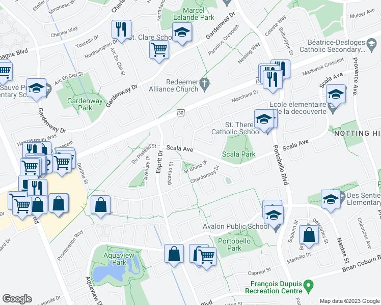 726 Scala Avenue, Ottawa ON - Walk Score