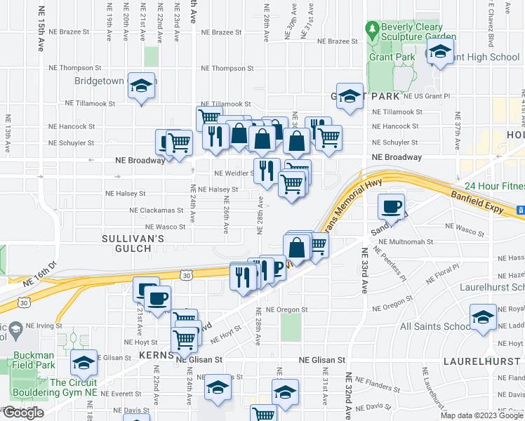 1344 Northeast 28th Avenue, Portland OR - Walk Score