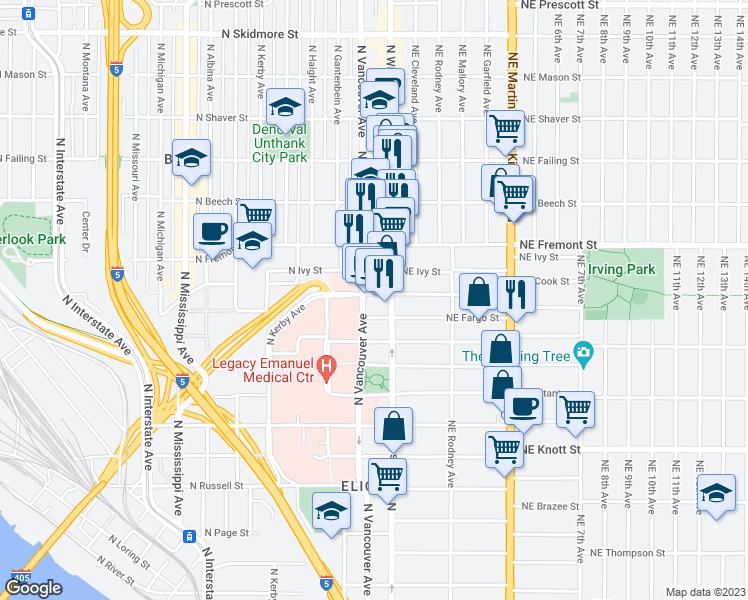 3270 North Vancouver Avenue, Portland OR - Walk Score on portland highway map, carson city california map, kaiser east interstate portland, kaiser interstate campus map,