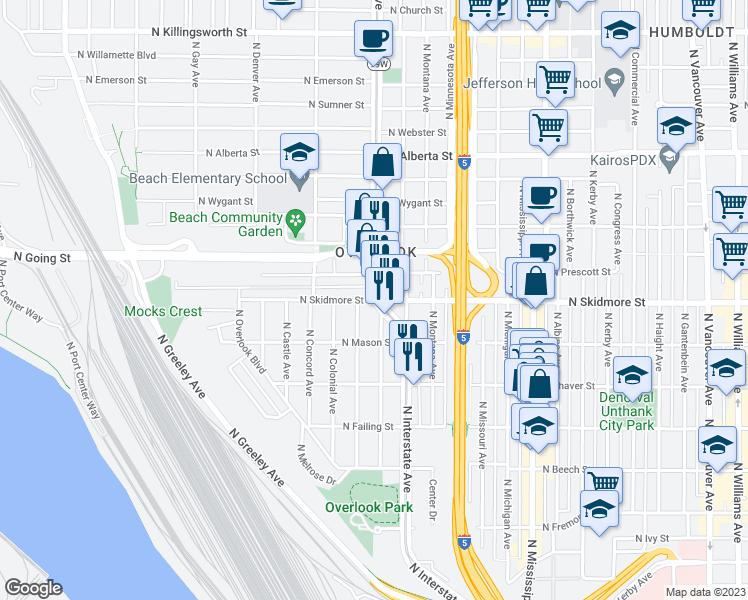 Portland OR - Walk Score on portland highway map, carson city california map, kaiser east interstate portland, kaiser interstate campus map,