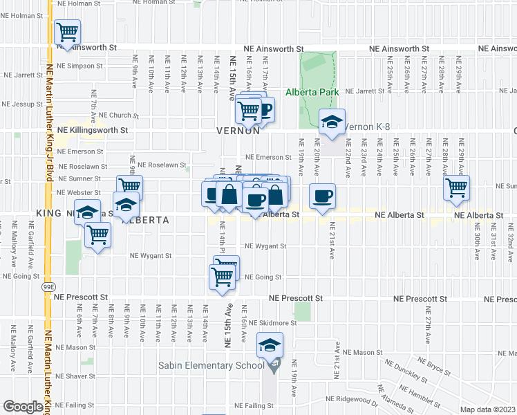 1617 Northeast Alberta Street Portland OR  Walk Score