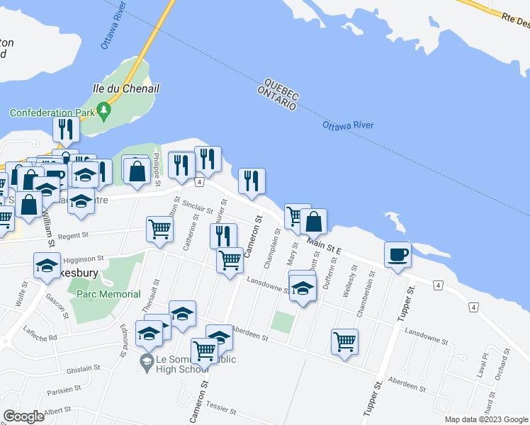 Hawkesbury Ontario Map