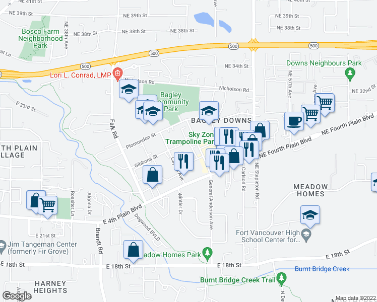 map of restaurants, bars, coffee shops, grocery stores, and more near 2900 General Anderson Avenue in Vancouver