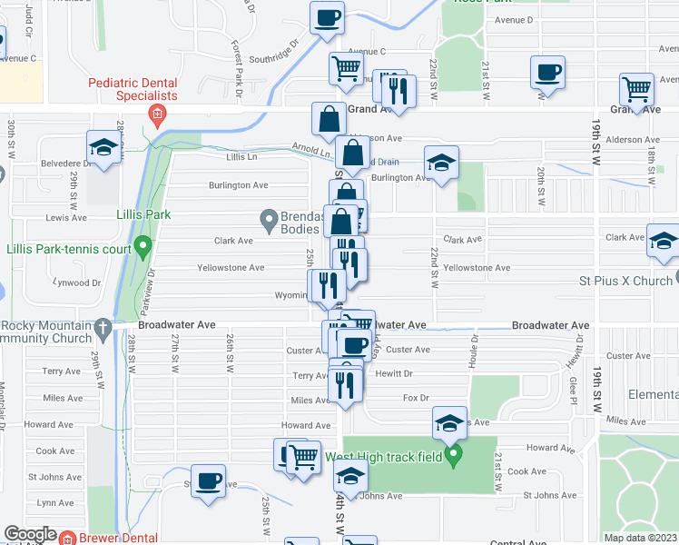 821 North 24th Street West, Billings MT - Walk Score