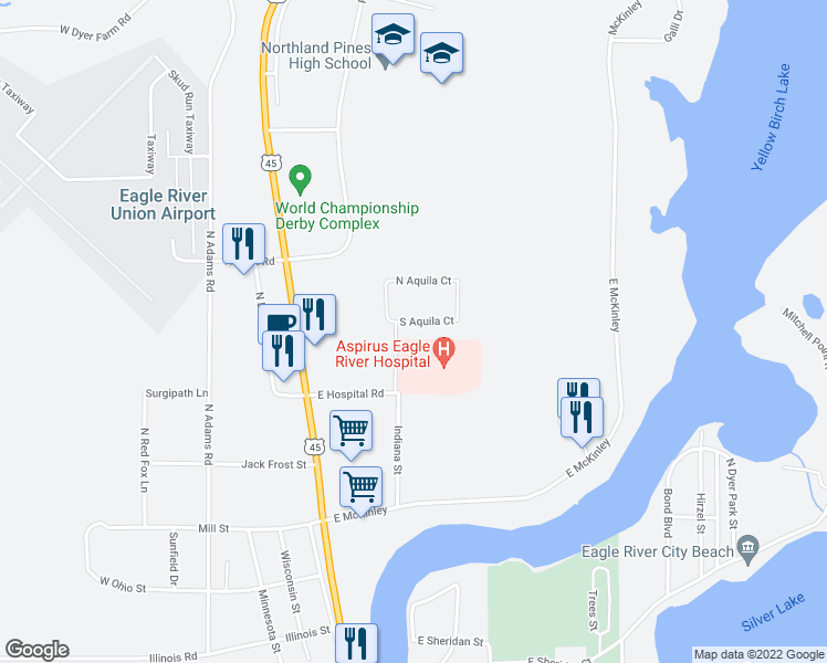106 South Aquila Court, Eagle River WI - Walk Score on knik river map, fennimore map, snake river map, chippewa falls map, white river map, kenai map, silver river map, town of eagle wi map, isle royale national park map, wild eagle lodge map, city of racine map, mississippi river map, eagle alaska map, superior map, upper peninsula of michigan map, black river falls map, iron river michigan map, wisconsin river system map, rice lake map, manitowish waters chain of lakes map,