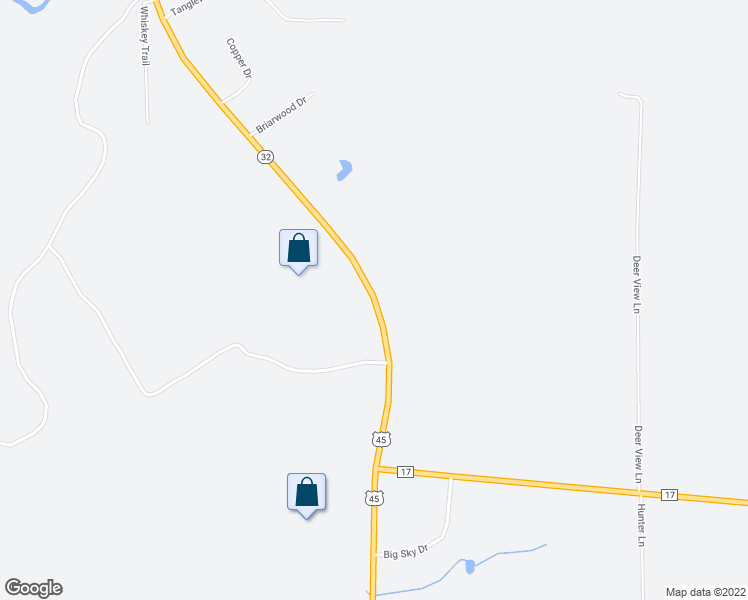 map of restaurants, bars, coffee shops, grocery stores, and more near 2445 U.S. 45 in Eagle River