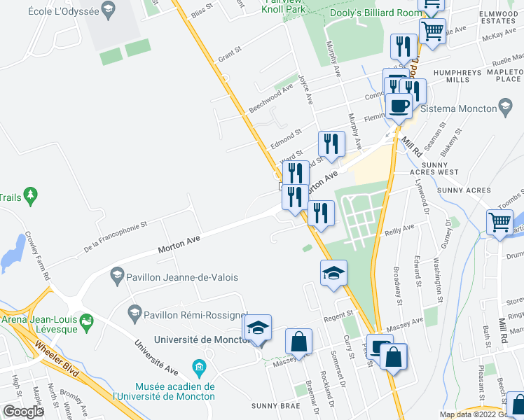 Map Of Restaurants Bars Coffee Shops Grocery Stores And More Near 139