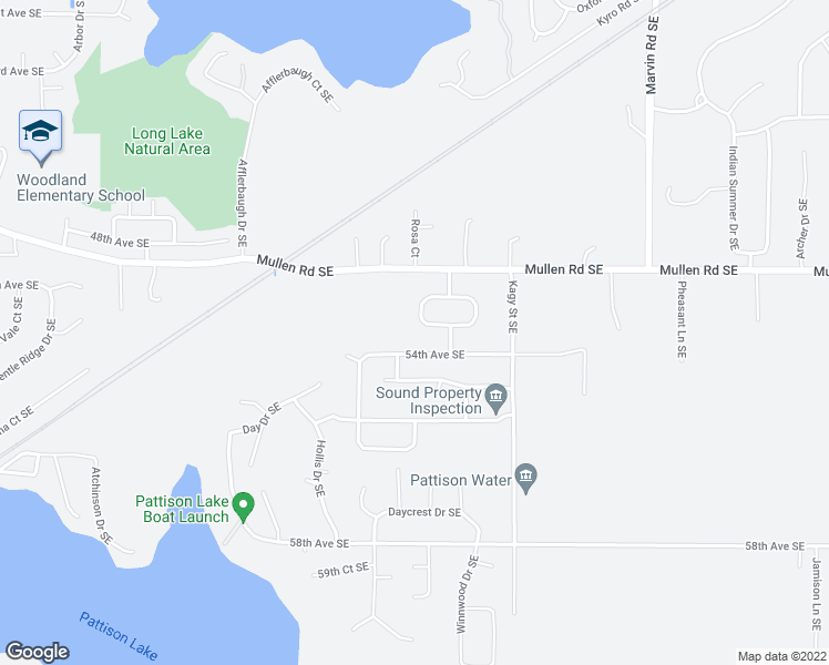 map of restaurants, bars, coffee shops, grocery stores, and more near 8402 49th Loop Southeast in Olympia