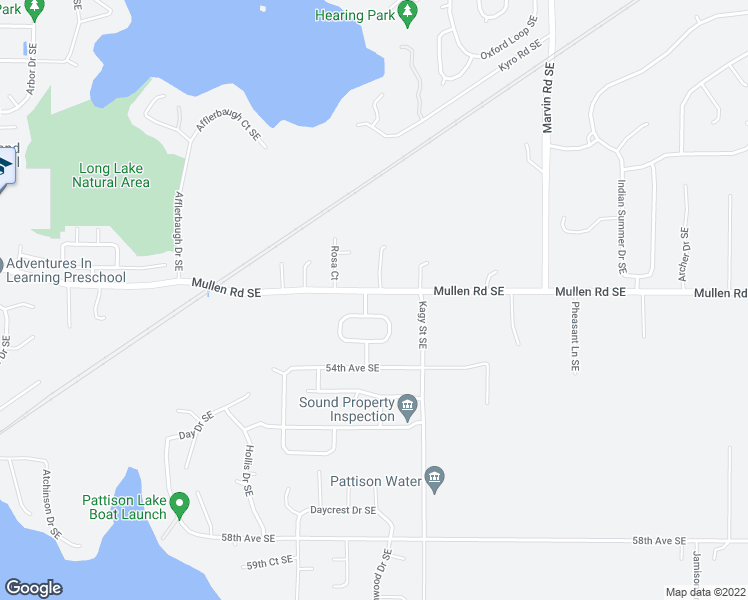 map of restaurants, bars, coffee shops, grocery stores, and more near 8309 49th Loop Southeast in Olympia