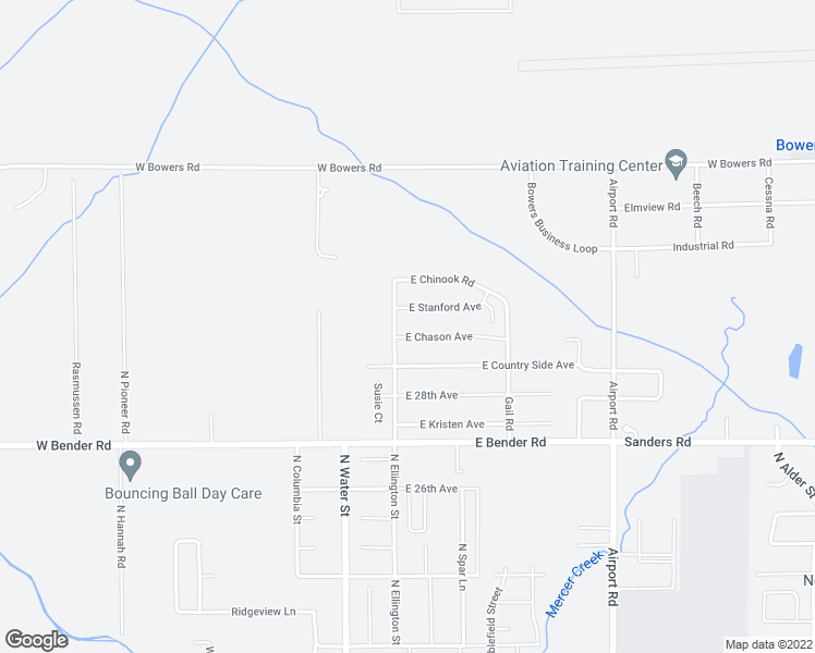 map of restaurants, bars, coffee shops, grocery stores, and more near 105 East Chason Avenue in Ellensburg