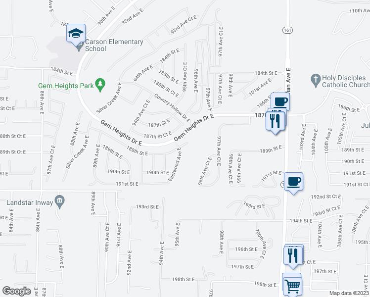 9510 188th Street East South Hill Wa Walk Score