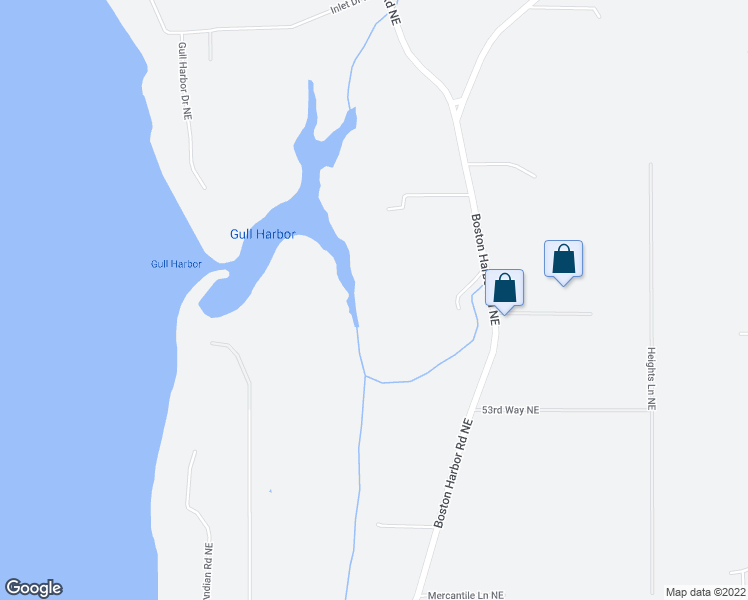map of restaurants, bars, coffee shops, grocery stores, and more near 5545 Boston Harbor Road Northeast in Olympia