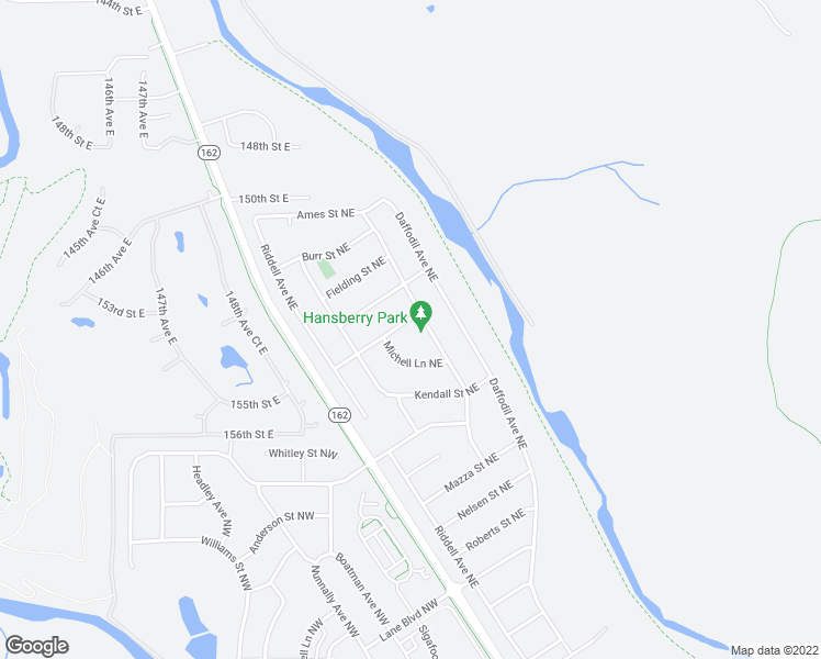 map of restaurants, bars, coffee shops, grocery stores, and more near 216 Johns Street Northeast in Orting