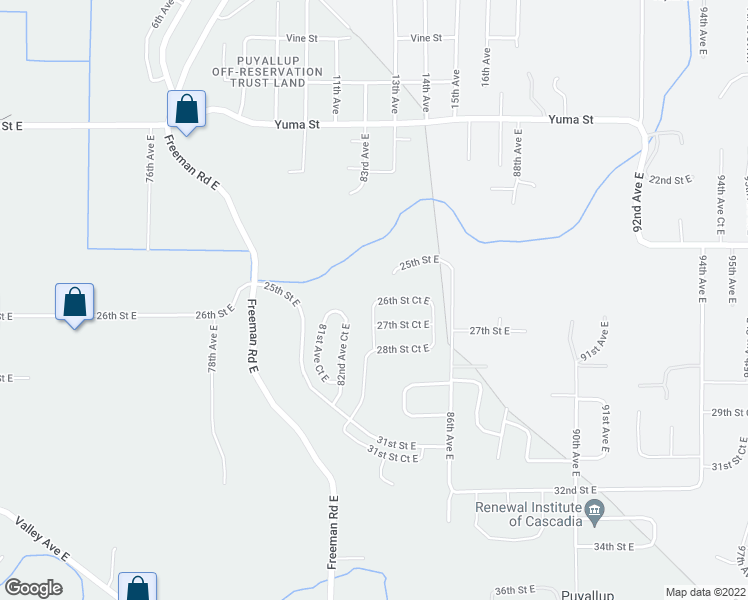 map of restaurants, bars, coffee shops, grocery stores, and more near 2606 83rd Avenue Court East in Edgewood