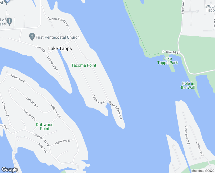 map of restaurants, bars, coffee shops, grocery stores, and more near 2209 Tacoma Point Drive East in Lake Tapps