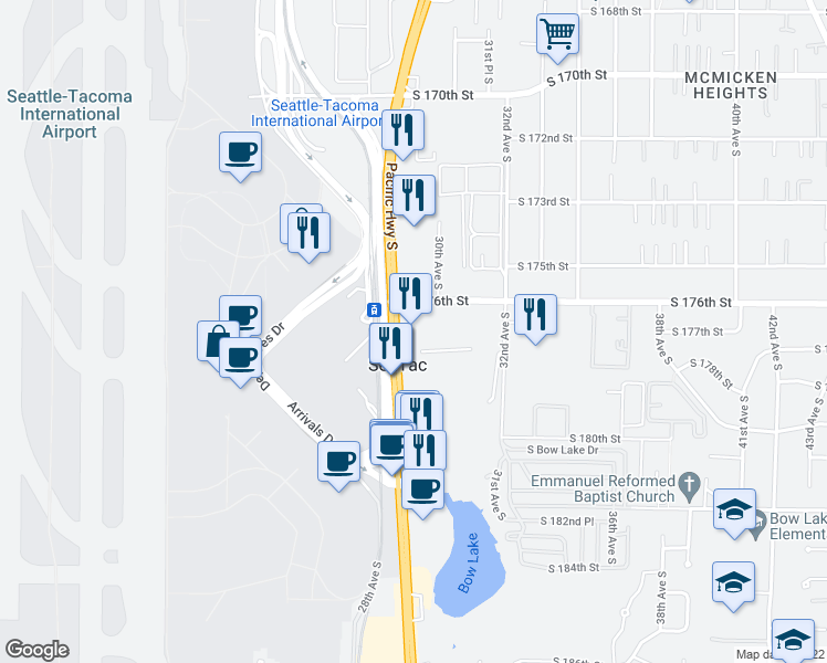 17620 Pacific Highway South, SeaTac WA - Walk Score on highline school district map, university place map, burien map, seattle map, parkland map, auburn university map, centralia map, kitsap county map, highway 101 washington state map, mount rainier national park map, sea terminal map, omak map, poulsbo map, hobart map, bothell map, olympic national park map, new orleans map, west coast of the united states map, sea airport gate map, la conner map,