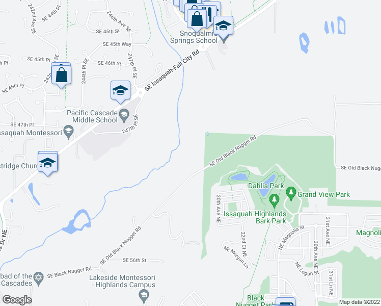 map of restaurants, bars, coffee shops, grocery stores, and more near in Issaquah