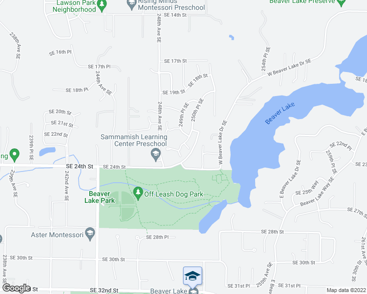 map of restaurants, bars, coffee shops, grocery stores, and more near 2236 250th Place Southeast in Sammamish