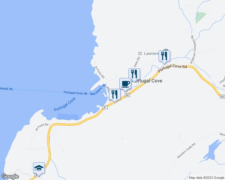 Ferry Terminal Road Portugal CoveSt Philips NL Walk Score - Portugal cove nl map