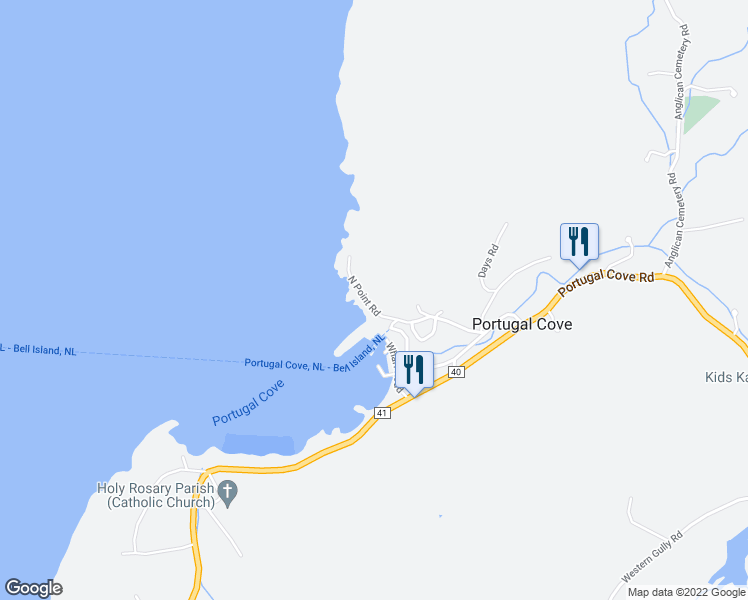 North Point Road Portugal CoveSt Philips NL Walk Score - Portugal cove nl map