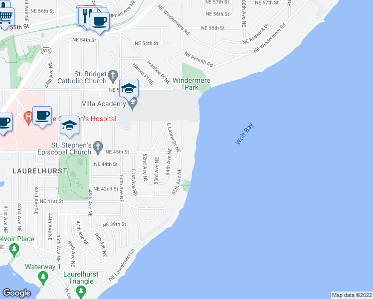 map of restaurants, bars, coffee shops, grocery stores, and more near 4326 University Way in Seattle