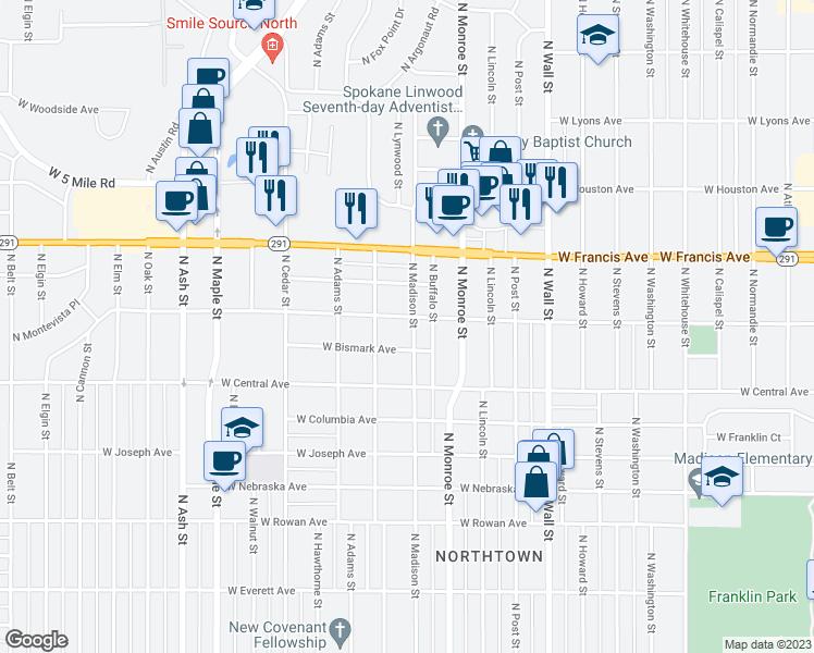 1105 W Dalke Ave, Spokane WA - Walk Score  Maps on