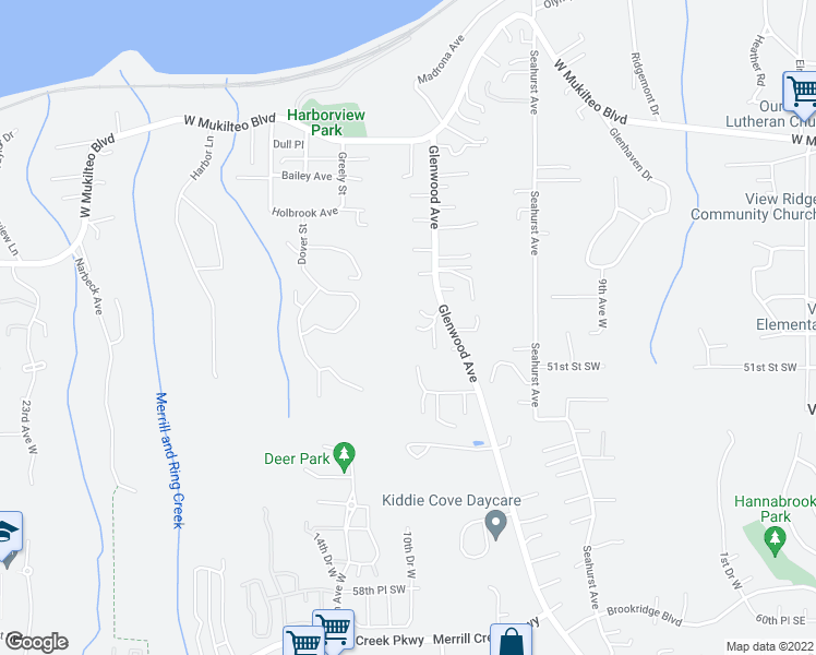 map of restaurants, bars, coffee shops, grocery stores, and more near 1523 49th Place Southwest in Everett