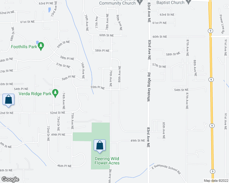 map of restaurants, bars, coffee shops, grocery stores, and more near 7904 55th Place Northeast in Marysville