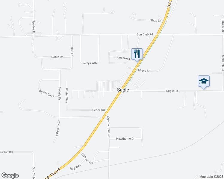 Hwy 95 Idaho Map.468800 Highway 95 Sagle Id Walk Score