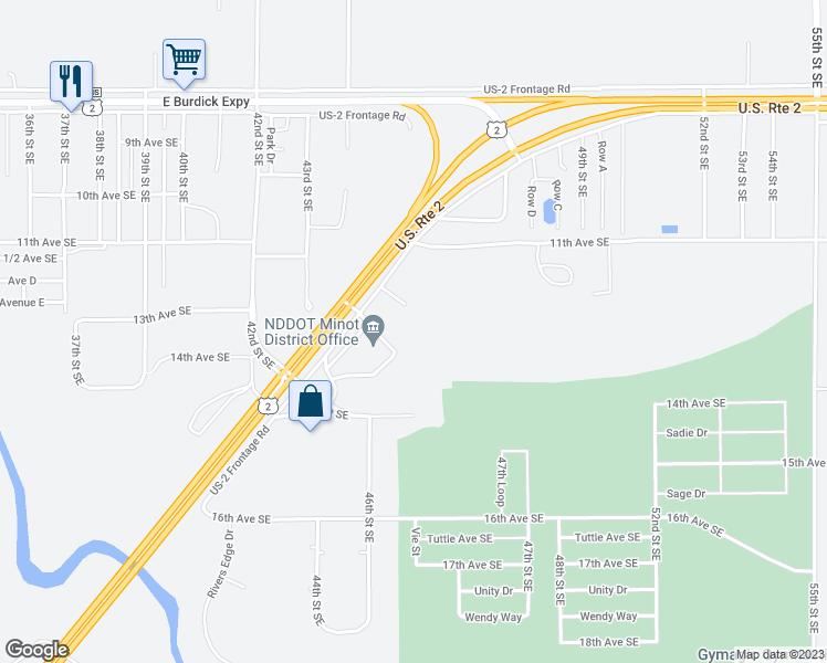 9001 Us Highway 2 Minot Nd Walk Score - Us-highway-2-map
