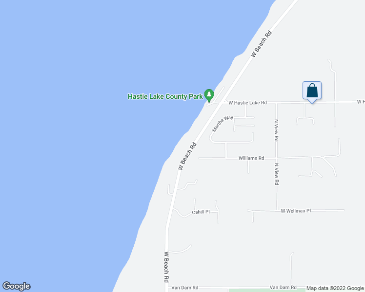 map of restaurants, bars, coffee shops, grocery stores, and more near 1431 West Beach Road in Oak Harbor