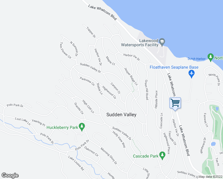 map of restaurants, bars, coffee shops, grocery stores, and more near 11 Highwood Circle in Bellingham