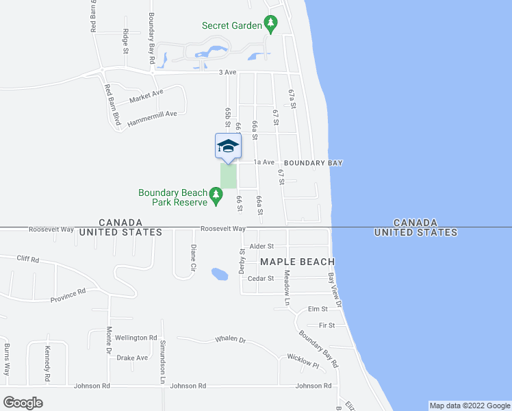 map of restaurants, bars, coffee shops, grocery stores, and more near 82 66 Street in Delta