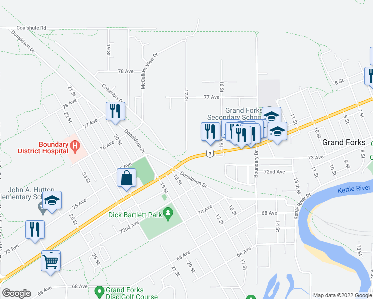 grand forks bc map