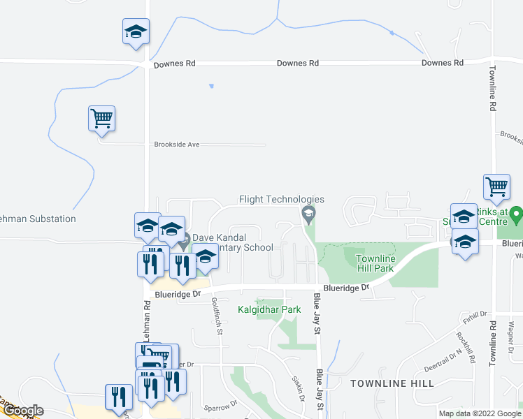 map of restaurants, bars, coffee shops, grocery stores, and more near 30682 Crestview Avenue in Abbotsford