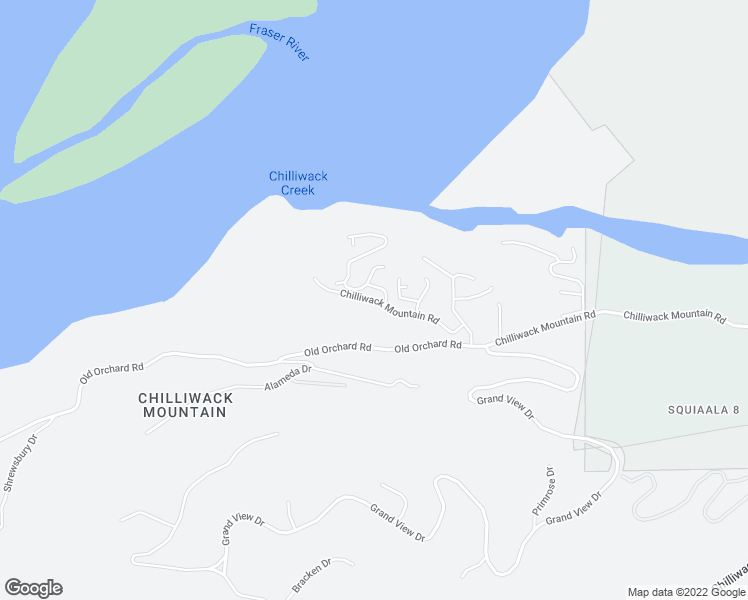 map of restaurants, bars, coffee shops, grocery stores, and more near 43685 Chilliwack Mountain Road in Chilliwack
